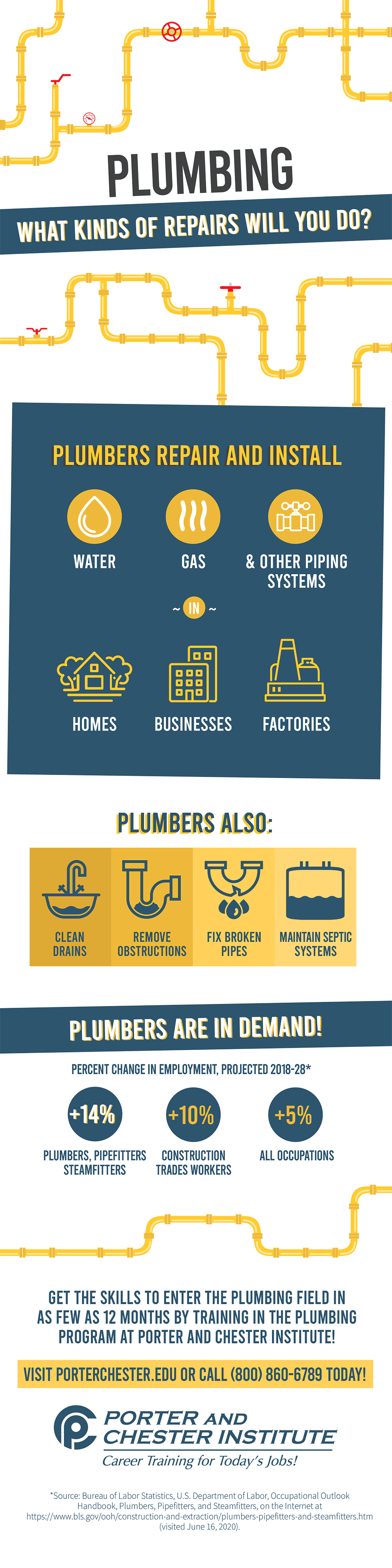 Plumbers: What Kinds of Repairs Will You Do? Infographic